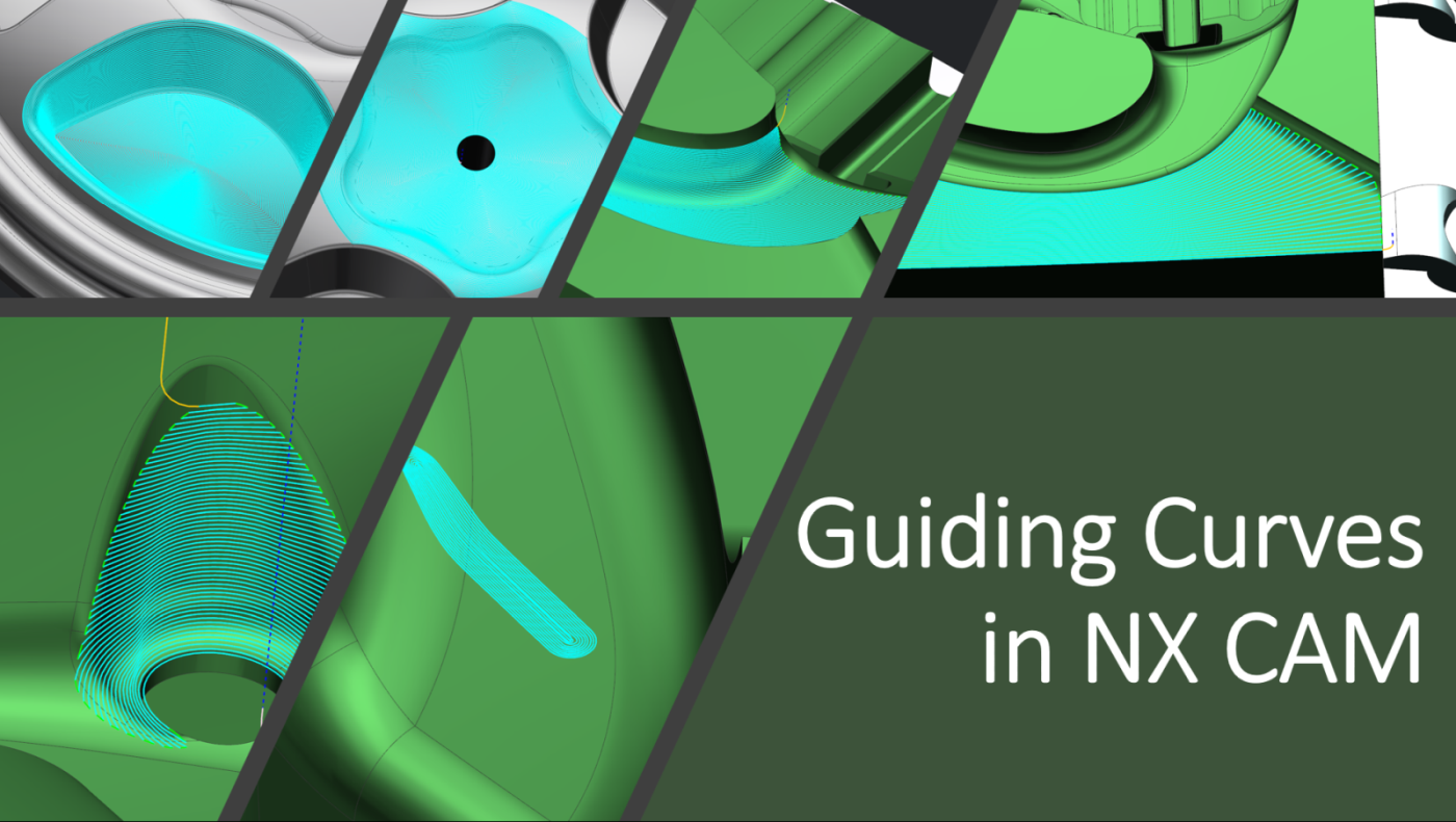 Surface finishing with Guiding Curves in NX CAM